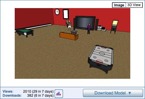 Project Spectrum, Google 3-D Warehouse